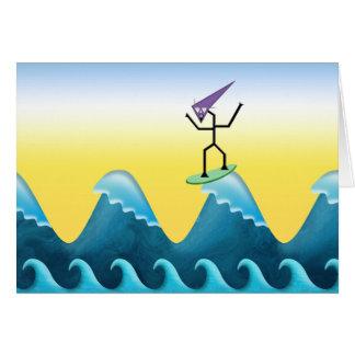 Joe Surfer Greeting Card
