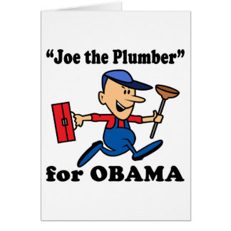 Joe the Plumber for Obama Card