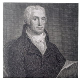 Joel Barlow (1754-1812), engraved by Asher Brown D Large Square Tile