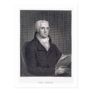 Joel Barlow (1754-1812), engraved by Asher Brown D Postcard