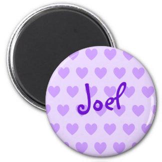 Joel in Purple 6 Cm Round Magnet