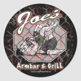 Joes_armbar_grill_1 Round Sticker