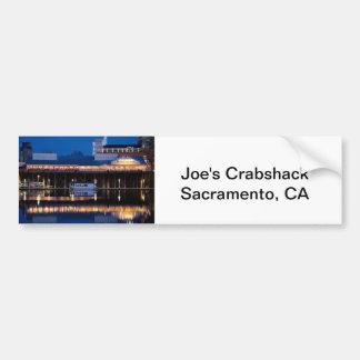 Joe's Crabshack at night Car Bumper Sticker