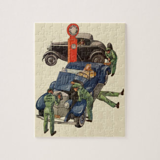 Joe's Full Service Gas Station, Vintage Business Jigsaw Puzzle