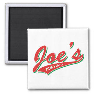 Joe's Pizza & Pasta Square Magnet