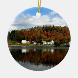 Joe's Pond - Danville, Vermont Round Ceramic Decoration