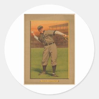 JoeTinker Chicago Cubs 1911 Round Sticker