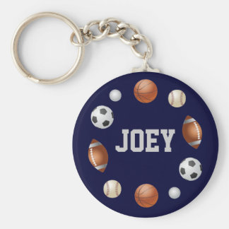 Joey World of Sports Key Chain - Blue
