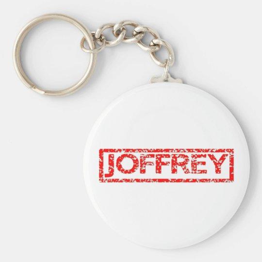 Joffrey Stamp Basic Round Button Key Ring