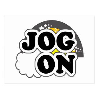 Jog On Post Card
