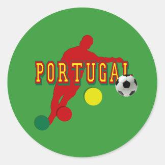 Jogador de Selecção Portuguesa Classic Round Sticker