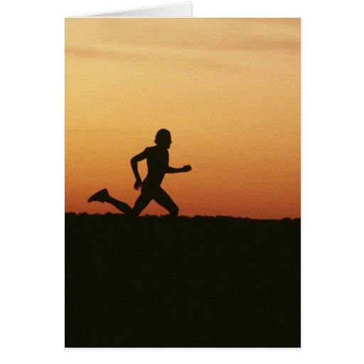 Jogger Greeting Card