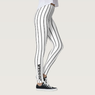 Jogger Leggings -black pinstripe