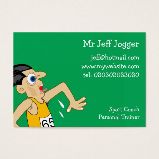 Jogger, Mr Jeff Jogger Business Card