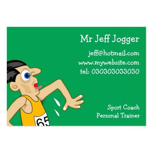 Jogger, Mr Jeff Jogger Business Card Templates