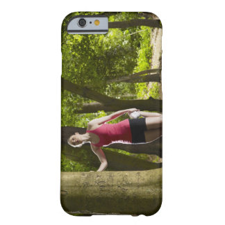Jogger stretching in forest barely there iPhone 6 case
