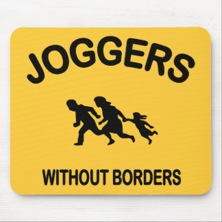Joggers Without Borders Mouse Mat
