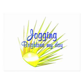 Jogging Brightens Post Cards