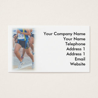 Jogging, Fitness and Athletics Business Card