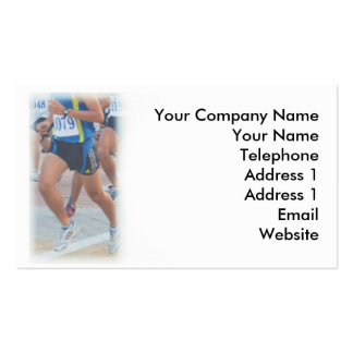 Jogging, Fitness and Athletics Pack Of Standard Business Cards