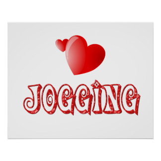 Jogging Hearts Posters
