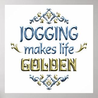 JOGGING is Golden Poster
