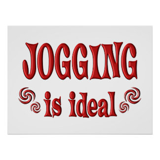 Jogging is Ideal Poster