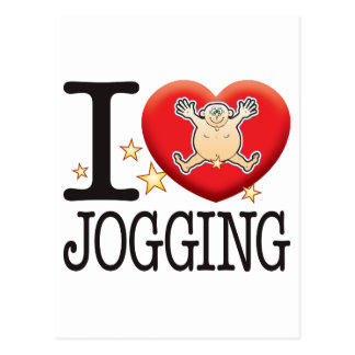 Jogging Love Man Postcard