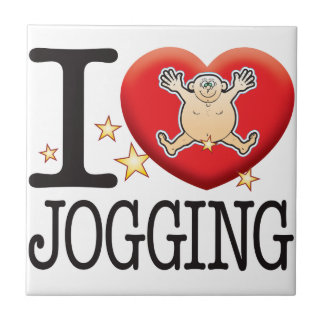 Jogging Love Man Small Square Tile
