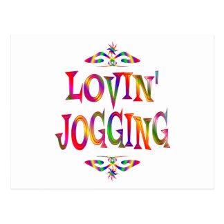Jogging Lover Postcard