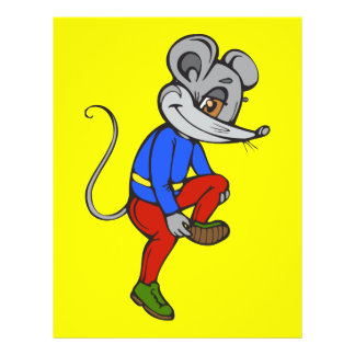 Jogging Mouse Personalized Flyer