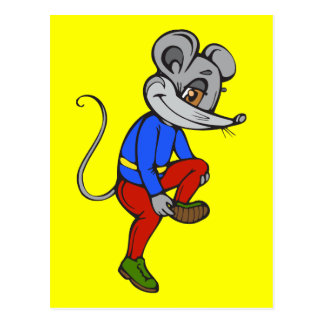 Jogging Mouse Postcard