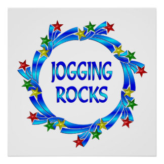 Jogging Rocks Print