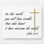 Joh 16:33 mouse pad