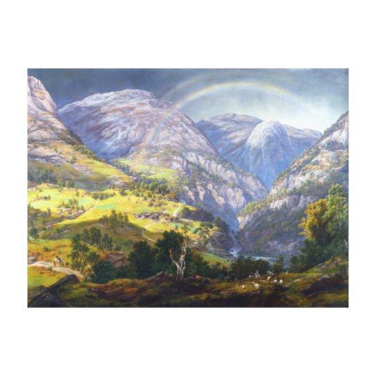 Johan Christian Claussen Dahl View from Stalheim Canvas