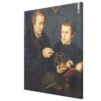 Johann I Neudorfer and his Son, 1561 Canvas Print