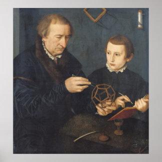 Johann I Neudorfer and his Son, 1561 Poster