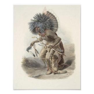 "Johann Karl Bodmer ""Moenitarri Warrior"" Print Photographic Print"