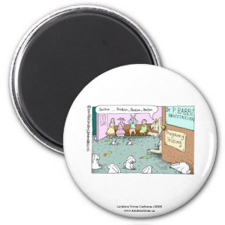 johann_rabbit, Londons Times Cartoons c2008www.... Fridge Magnets
