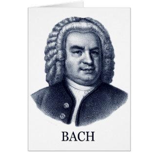 Johann Sebastian Bach, blue Greeting Card