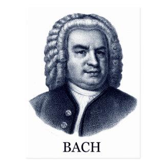 Johann Sebastian Bach, blue Post Card