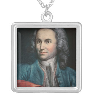 Johann Sebastian Bach  c.1715 Square Pendant Necklace