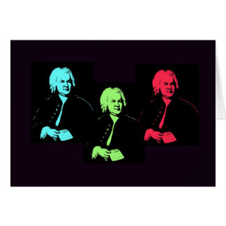 Johann Sebastian Bach Collage Greeting Card