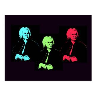 Johann Sebastian Bach Collage Postcard