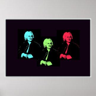 Johann Sebastian Bach Collage Poster