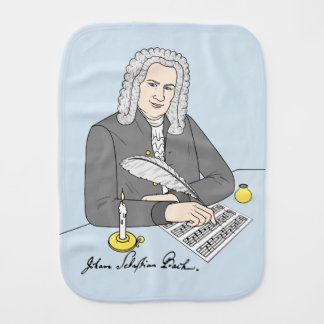 Johann Sebastian Bach drawn Baby Burp Cloth