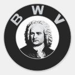 Johann Sebastian Bach Round Stickers