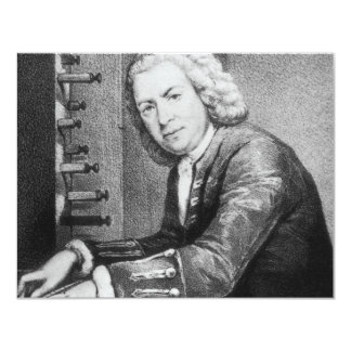 Johann Sebastian Bach Stuff 11 Cm X 14 Cm Invitation Card