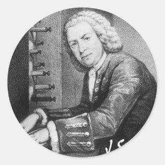 Johann Sebastian Bach Stuff Classic Round Sticker