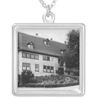 Johann Sebastian Bach's  house Silver Plated Necklace